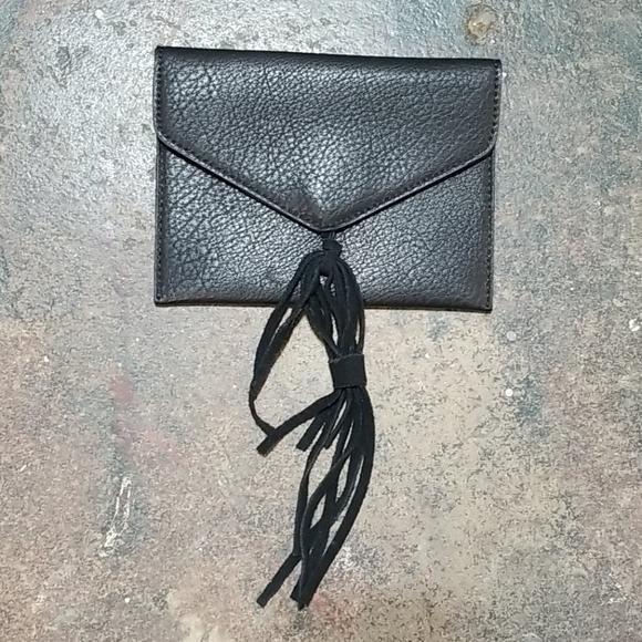 Anthropologie Handbags - Anthropologie Black Envelope Small Clutch